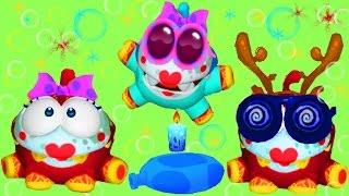 Виртуальный питомец АМ НЯМ # 17 My om Nom смешной виртуальный зверек как мультфильм Funny Games