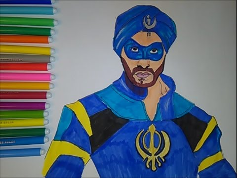 A Flying Jatt Coloring Pages Superhero Indian Movie Speed Colouring For Kids