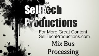 Mix Bus Processing in Logic Pro X