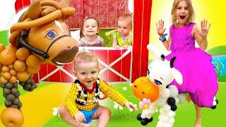 Five Kids Old MacDonald Song + More Nursery Rhymes & Kids Songs