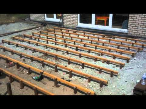 construction d 39 une terrasse en bois youtube. Black Bedroom Furniture Sets. Home Design Ideas