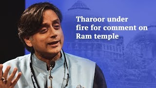 Shashi Tharoor faces heat over remarks on Ram temple, Hindus