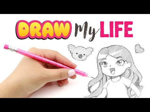 Draw My Life - Maqaroon/Cute Life Hacks!! Childhood, Career, Illness & More Things You Never Knew :)
