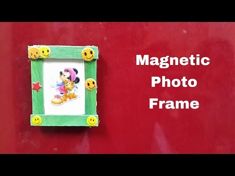 How to Make a DIY Magnetic Photo Frame for Fridge/Refrigerator