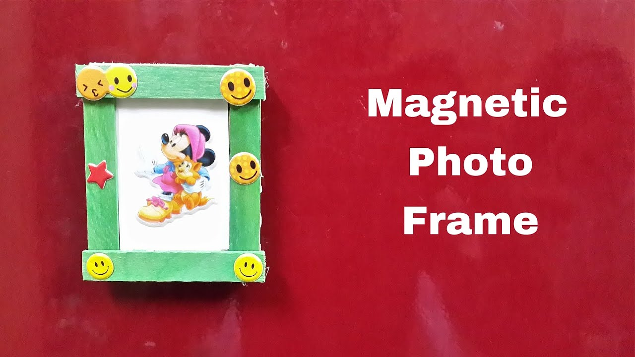 How to Make a DIY Magnetic Photo Frame for Fridge/Refrigerator - YouTube