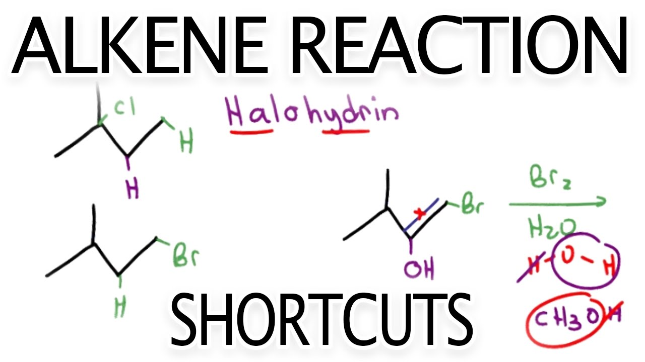 Alkene Reactions Organic Chemistry Cheat Sheet Study Guide -