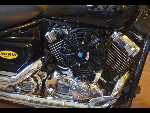 Yamaha V Star 650 Cooling Fan Mod Diy Youtube