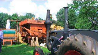 Dreschen mit dem Lanz Bulldog - Tractor start run and threshing