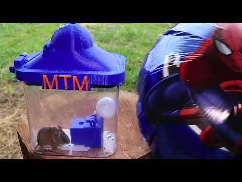 The 3D Printed Helium Balloon Mouse Trap In Action - Invente