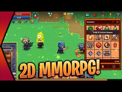 Pixel Knights Online - NEW OPEN-WORLD 2D MMORPG BETA GAMEPLAY ANDROID & IOS | MGQ Ep. 403