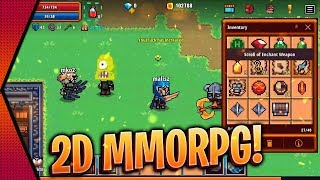Pixel Knights Online - NEW OPEN-WORLD 2D MMORPG BETA GAMEPLAY ANDROID & iOS   MGQ Ep. 403