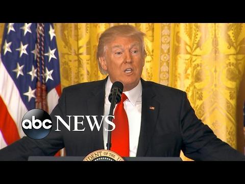 Breaking down President Trump's unprecedented press conference