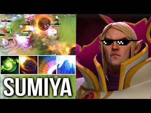 Try Hard SumiYa Pro Invoker! Brutal Refresher Combo Best Magic Show Comeback Dota 2