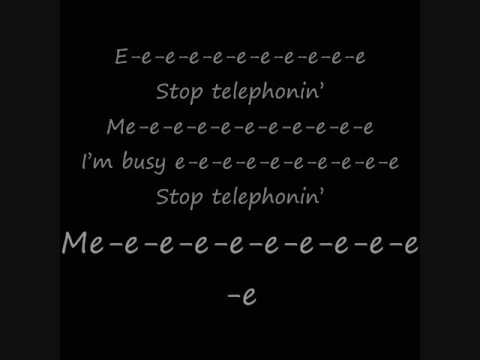 Lady Gaga Ft. Beyonce- Telephone Lyrics Video