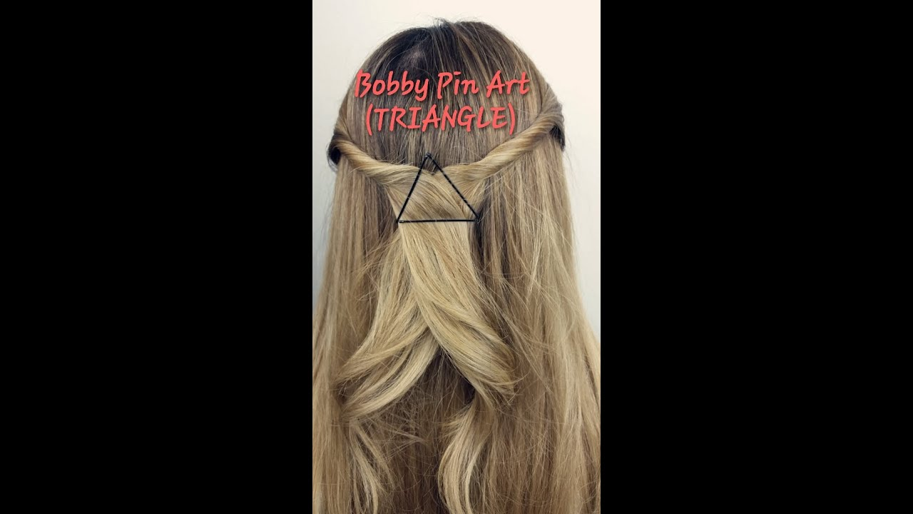 styling hair with bobby pins styling with bobby pins bobby pin triangle half 2876