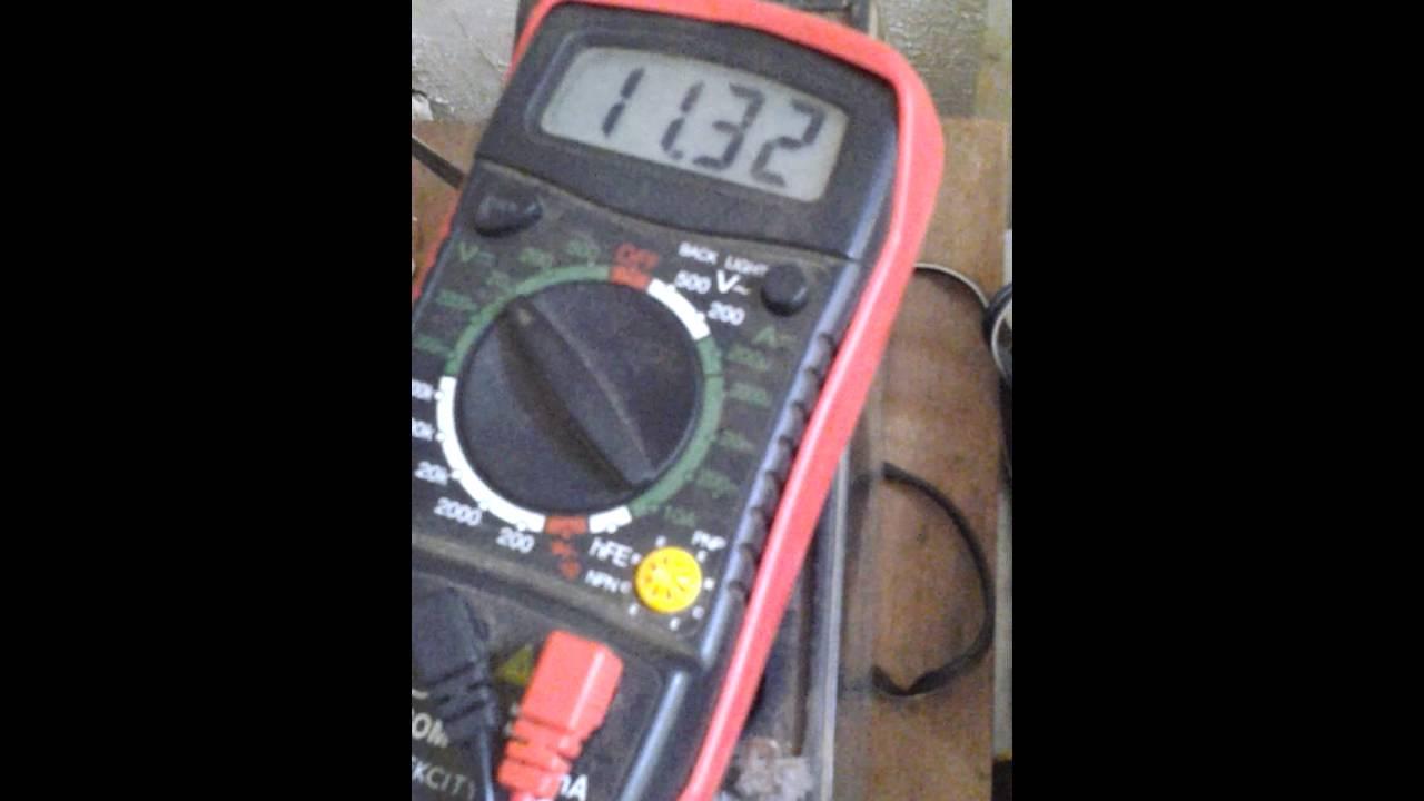 Test 12v 10w Solar Panel  20a Charge Regulator  12 7ah