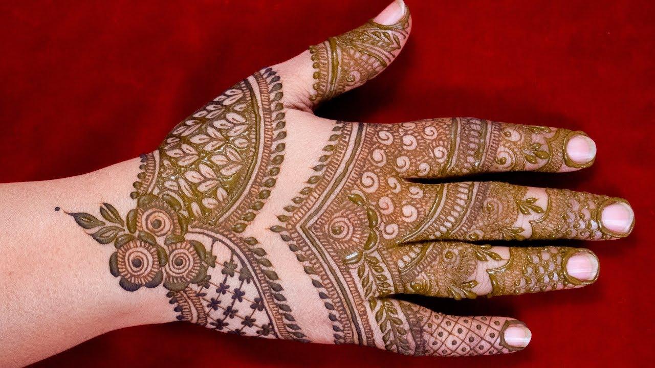 indian mehandi design photos back