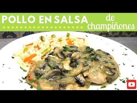 Pollo en salsa de champiñones | Cocina de Addy