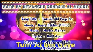 Tum Jo Mil Gaye Ho Karaoke With Hindi Scrolling Lyrics and With Origional Effects