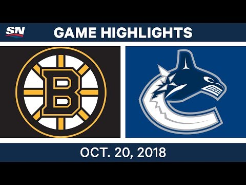 NHL Highlights | Bruins vs. Canucks - Oct. 20, 2018