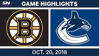 NHL Highlights | Bruins vs. Canucks - Oct. 20, 2018