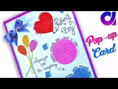 how to make an awesome pop-up card father's day pop-up card    Father's Day Gift Idea   Artkala 221
