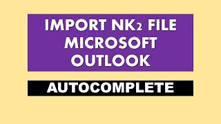 Video import nk2 file - import nk2 files in Outlook 2010 | Outlook2013 | Outlook2016 - (2018) download MP3, 3GP, MP4, WEBM, AVI, FLV Agustus 2018