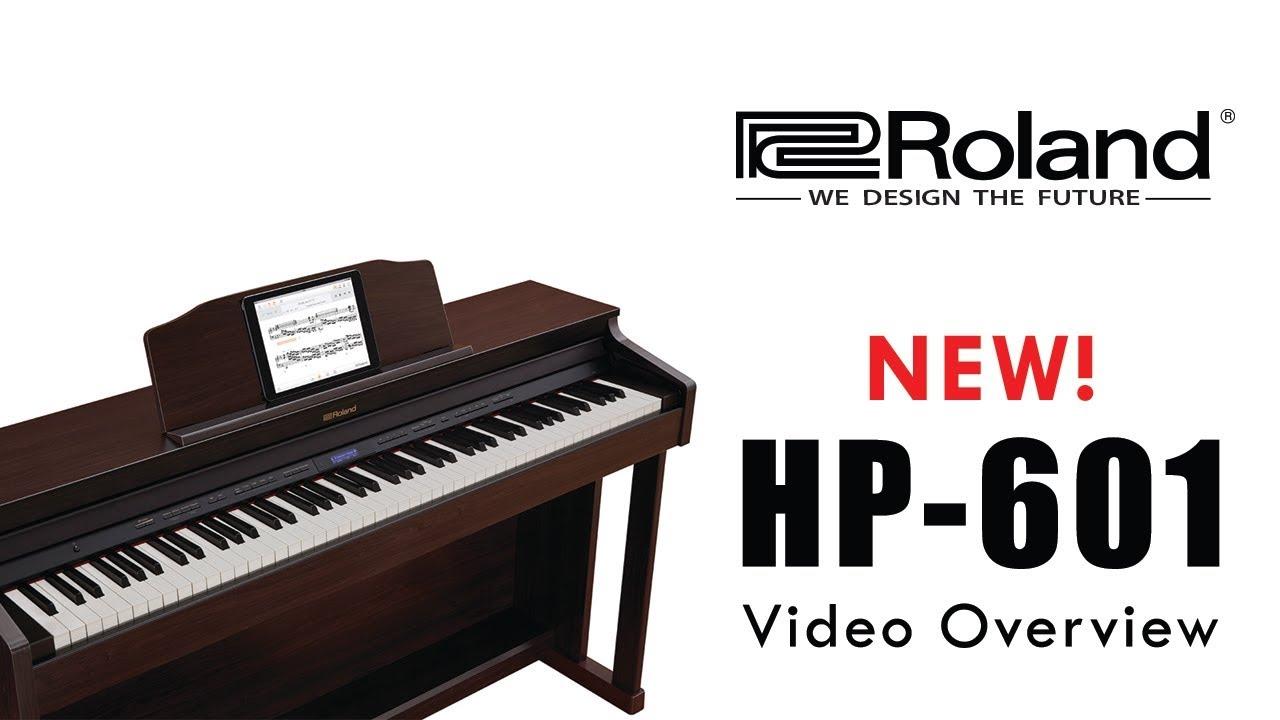 hp 601 roland digital piano 2018 youtube. Black Bedroom Furniture Sets. Home Design Ideas