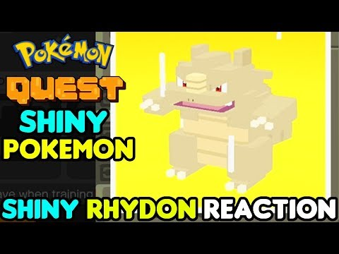 SHINY RHYDON IS THE BEST! SHINY Rhyhorn Live Reaction Pokemon Quest - Shiny Living Dex