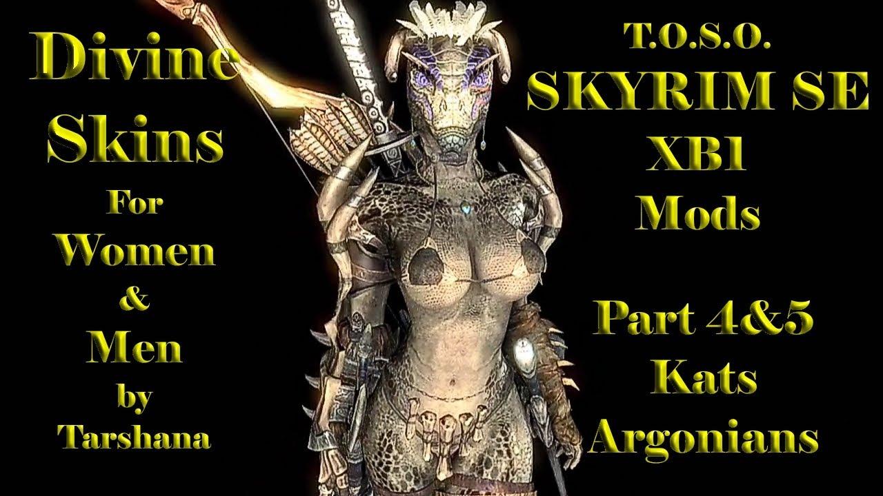 Skyirm Mods XB1 Divine Skins Khajiit Argonieans by Tarshana Beautiful  TexturesTOSO