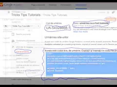 14-Cum Sa Adaugi Google Analytics la Blogger