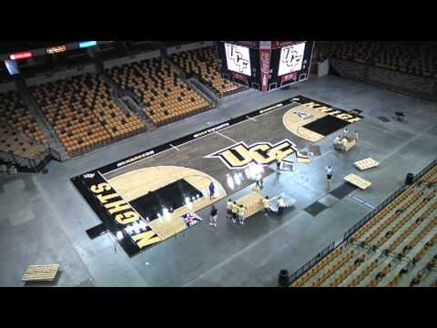 Cfe arena floor timelapse youtube for Cheapest way to make a basketball court