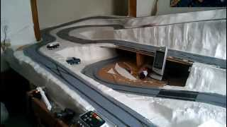 Scalextric 12 X 6 digital track test run with only pace cars