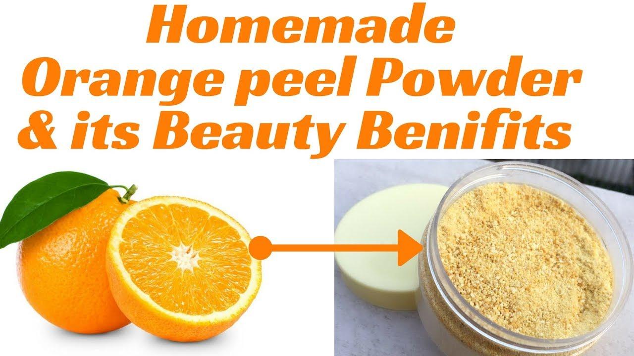 Orange peel skin benefits