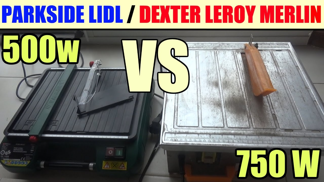 Tile Cutting Machine Parkside Pfsm 500 Versus Dexter Leroy Merlin