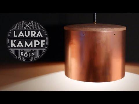 Laura´s Copper and Oak Lamp