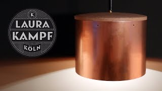 Laura´s Copper and Oak Lamp
