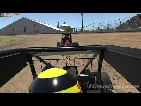 iRacing Kokomo Speedway On board Clip (Midgets)