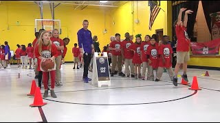Pelicans Training Day at Abney Elementary School