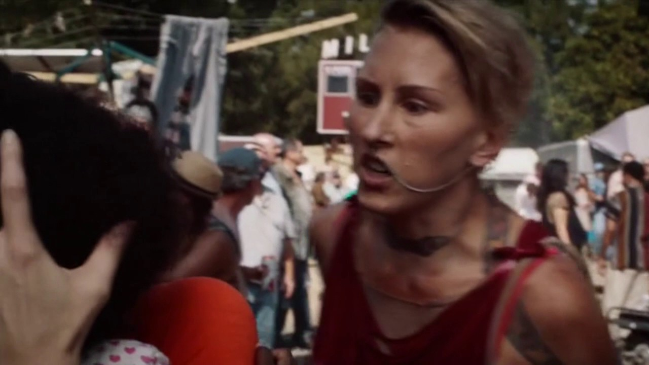 Carrie Coon yells at a Lady (From The Leftovers)