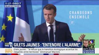 Gilets jaunes: Macron annonce que la fiscalité des carburants sera adaptée aux fluctuations des prix