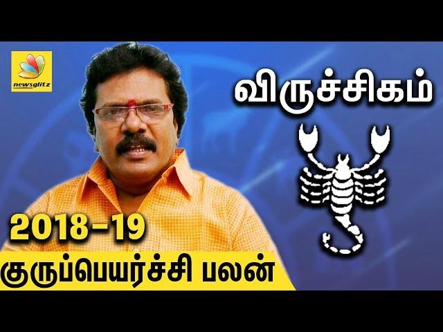 Viruchika Rasi Guru Peyarchi Palangal 2018 to 2019 | Tamil Astrology Predictions | Abirami Sekar