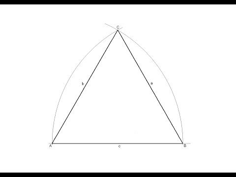 How to draw an equilateral triangle given the measurement of one side