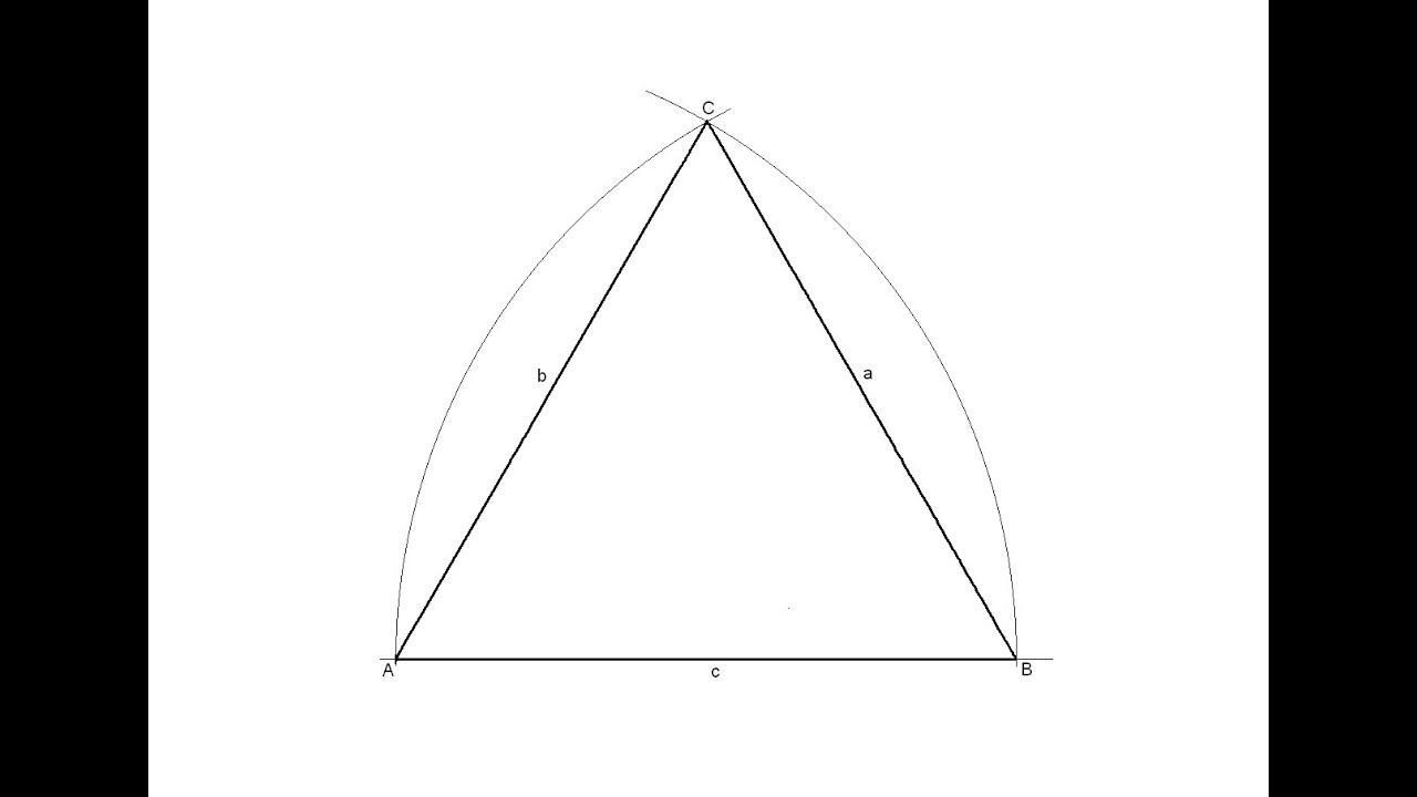 how to draw an equilateral triangle given the measurement of one