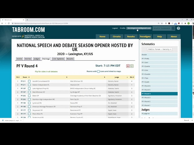 Judge Training---Online Tournaments