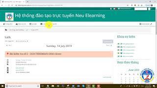 Hướng dẫn học tập trên hệ thống E-Learning - Đại học Kinh tế Quốc dân
