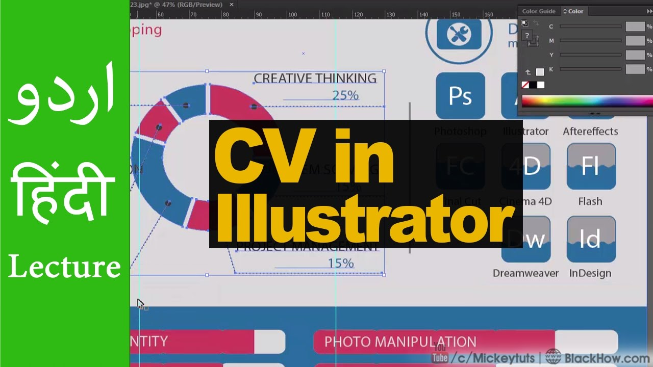 How To Create Professional Curriculum Vitae Cv In Illustrator