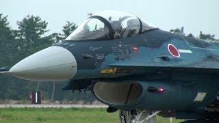 ドッカンハイレート!!! 三沢基地F-2戦闘機の迫力帰投シーン!!! 小松基地航空祭