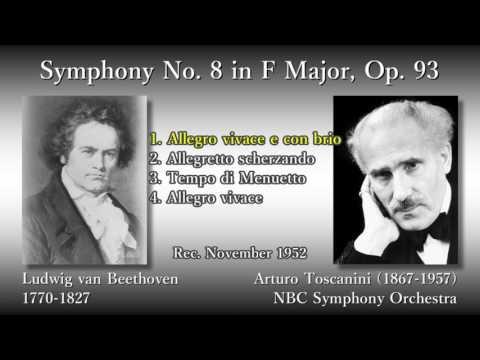 Beethoven: Symphony No. 8, Toscanini & NBCso (1952) ベートーヴェン 交響曲第8番 トスカニーニ