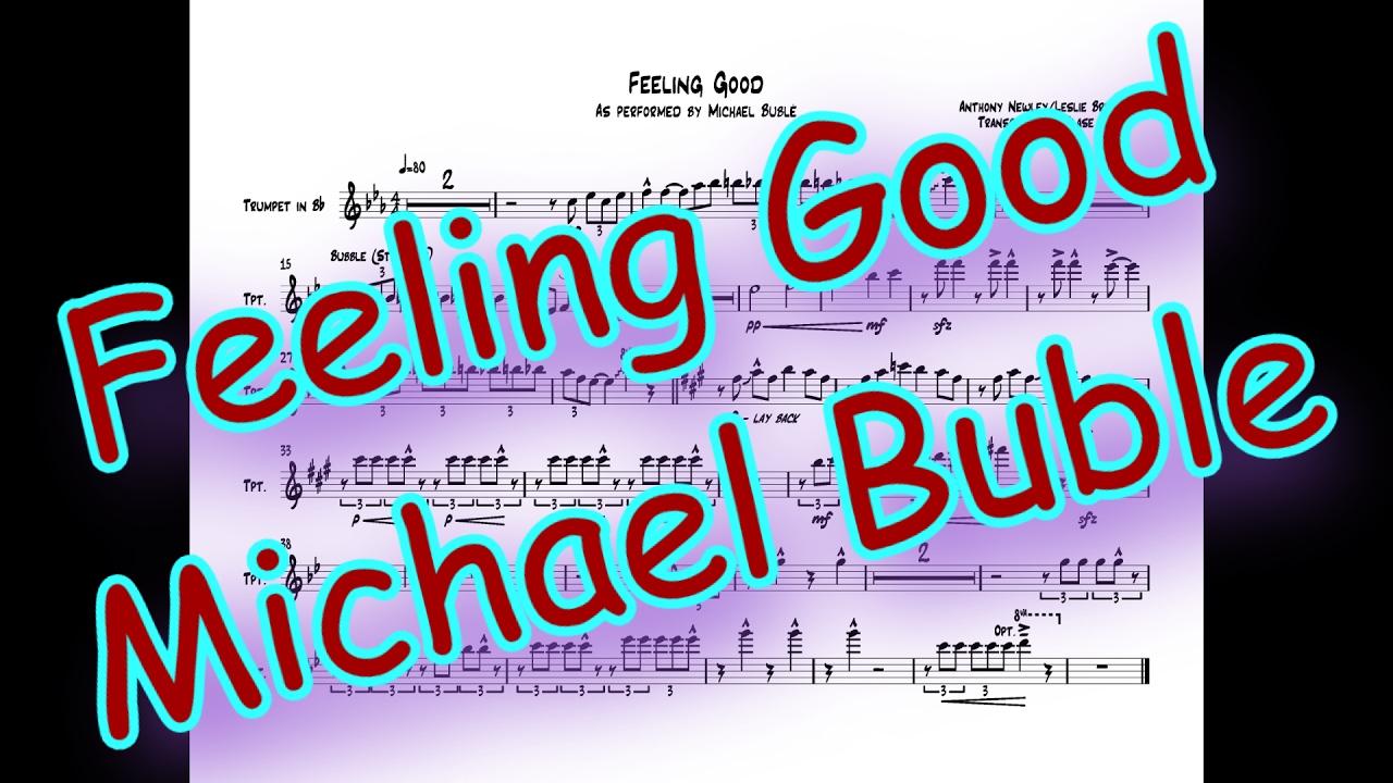 Feeling Good Trumpet Transcription Lead